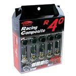 Project Kics 12X1.50 Black R40 Lug Nuts - 20 Pcs-3
