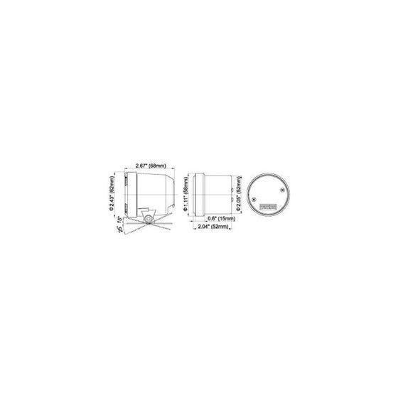 White Racer Series 52mm Gauges, US Measurements-3